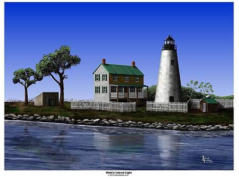 Watt's Island Light by Patrick Belote