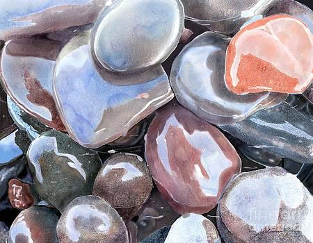 Wave Polished Stones by Joan A Hamilton