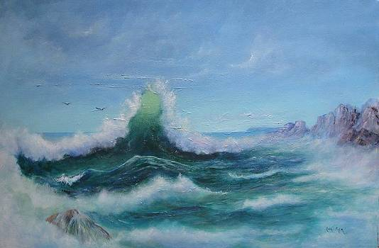 Waves in Collision by Rita Palm