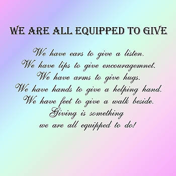 Nicki Bennett - We Are All Equipped To Give