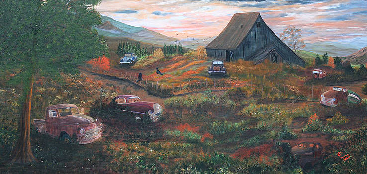 Weeds and Rust by Myrna Walsh