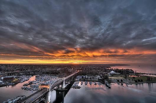 West Coast Fall Sunset by Doug Farmer