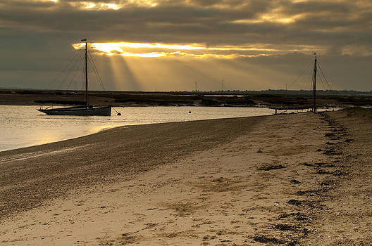West Mersea beach by David Isaacson