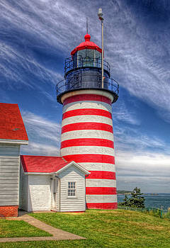 West Quoddy Head Light by Terry Cervi