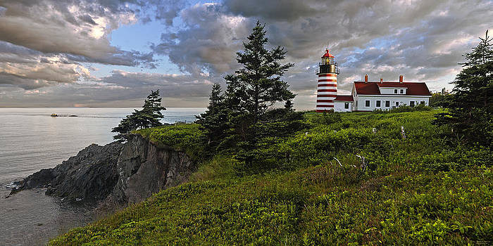 West Quoddy Head Lighthouse Panorama by Marty Saccone
