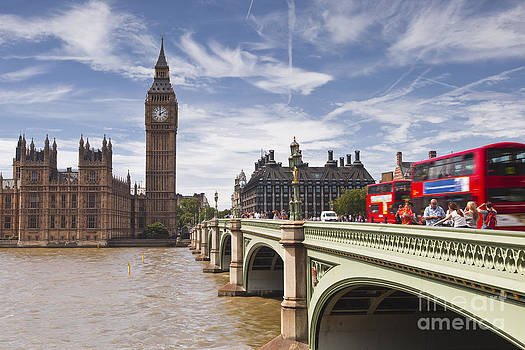 Westminster Bridge and british Parliament by Julian Elliott