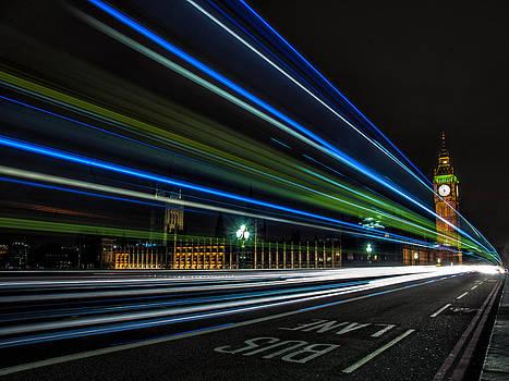 Westminster trailing Lights by Glenn Hewitt