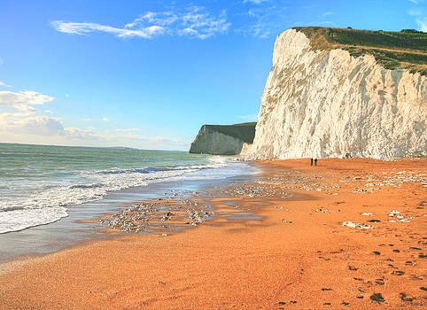 Weymouth cliffs by David Valentyne