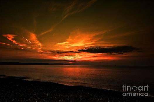 Weymouth  golden sunrise by Baggieoldboy