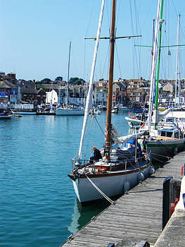 Weymouth Harbour and Sailing Boats by Moya Moon