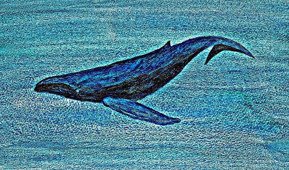 Whale Dive - Digital Crayon by Brett Smith