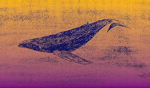 Whale Dive - Digital Ink Stamp Yellow/Pink by Brett Smith