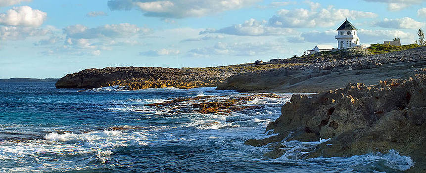 Whale Point Castle and Rocky Shore by Duane McCullough