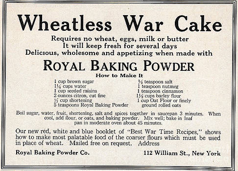 Wheatless War Cake by Paula Talbert