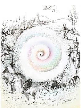 Wheel of Reincarnation by Anna Ewa Miarczynska