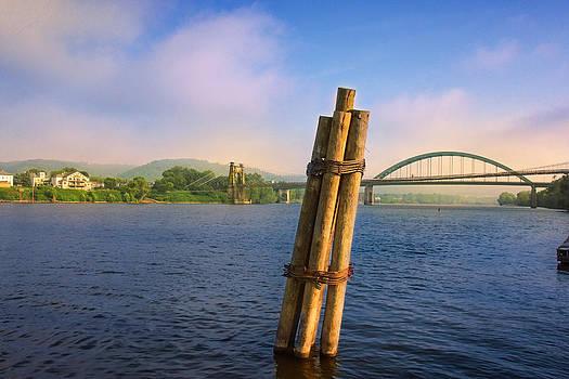 Mary Almond - Wheeling Suspension Bridge