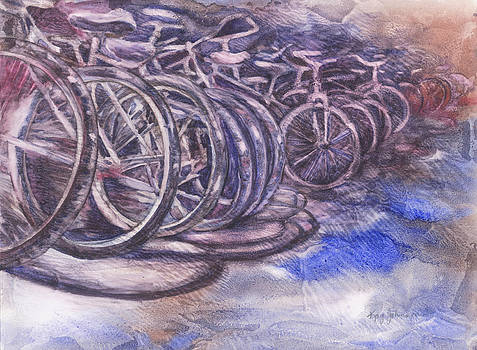 Wheels In A Row by Kay Johnson