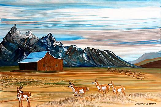 Where the Antelope Play by Mike Nahorniak