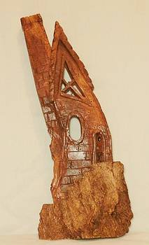 Whimsical Bark House IIII by Russell Ellingsworth