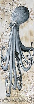 Whimsical Coastal Art Original Octopus Painting Depths of the Sea by Megan by Megan Duncanson