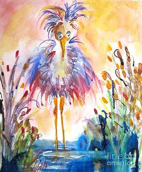 Whimsical Heron No. 2 by Delilah  Smith