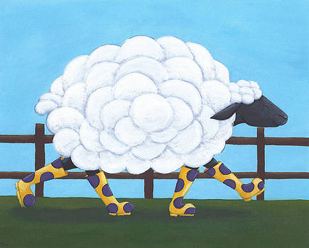 Whimsical Sheep Art by Christy Beckwith