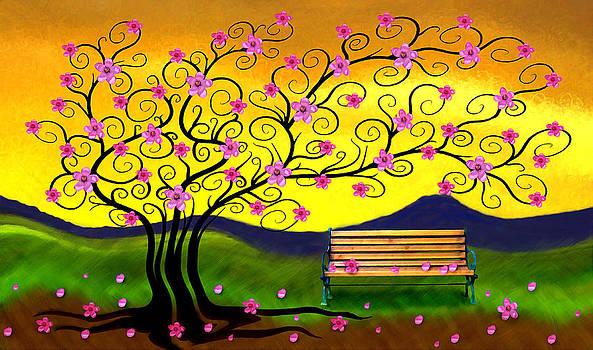 Nina Bradica - Whimsy Cherry Blossom Tree-2