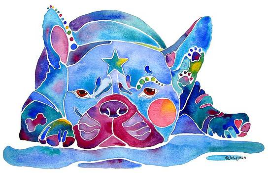 Whimzical French Bulldog  by Jo Lynch