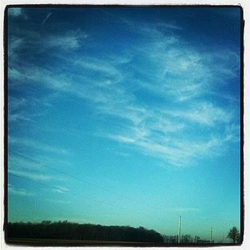 Whispy Clouds #hoosierskies by Sandy MacGowan