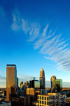 Whispy clouds in Charlotte NC sky by Patrick Schneider