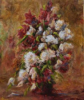 White and Red Bouquet by Beth Maddox