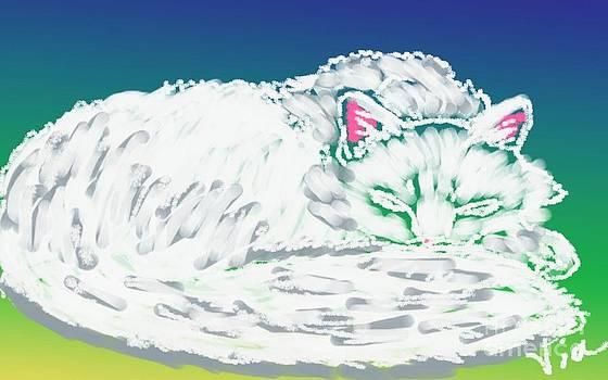 Judy Via-Wolff - White Cat