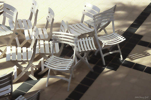 White Chairs by Marcy Gold