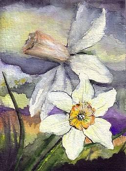 White Daffodils by Bonnie Fernandez