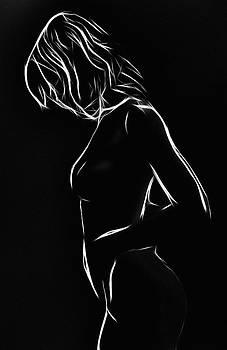 Steve K - White Girl in black night