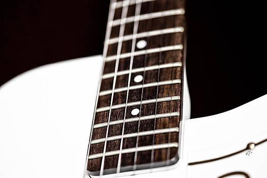 Karol  Livote - White Guitar Abstract