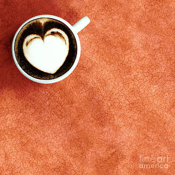 White Heart In White Cup Coffee  by Khomkrit Chunsakul