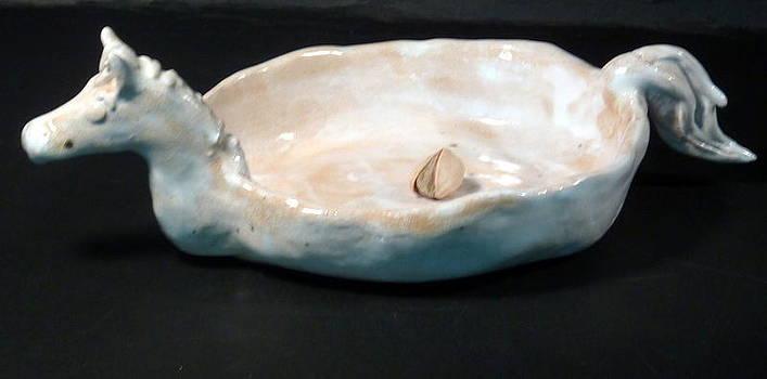 White horse dish by Debbie Limoli
