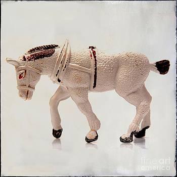 BERNARD JAUBERT - White horse figurine