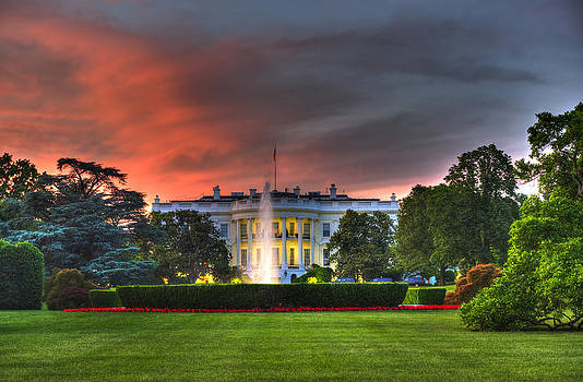 White House Sunset by Michael Misciagno