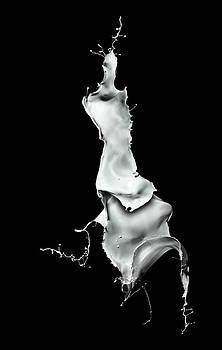 White Liquid Splash by Andy Astbury