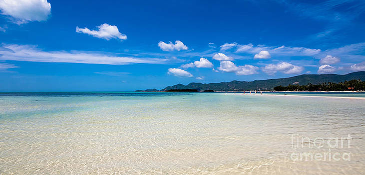 Fototrav Print - White sand beach on Koh Samui island in Thailand