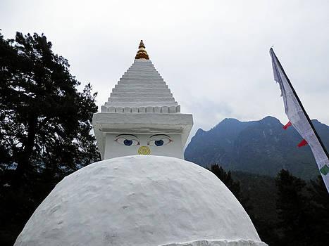 White Stupa by Pema Hou