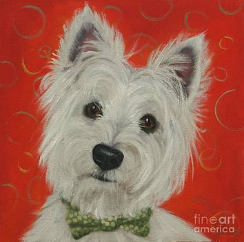 White Terrier by Pet Whimsy  Portraits