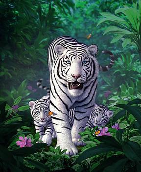 White Tigers by Jerry LoFaro