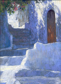 Whitewashed Steps  by Jackie Simmonds