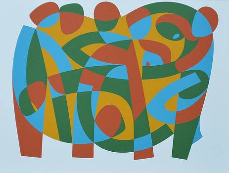 Ron Waddams - Wholeness In Brokenness, 1989 Acrylic On Board