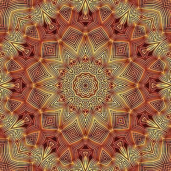 Wicker Pattern Mandala by Lyle Hatch