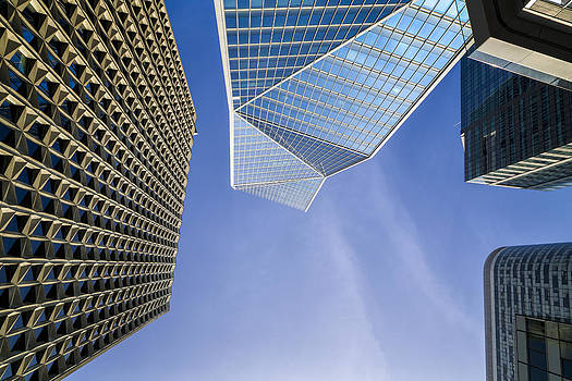 Wide-Angle View of Modern Buildings by Francesco Rizzato