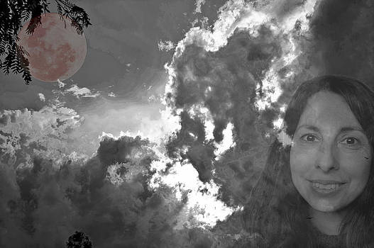 Wife Clouds and Blood Moon by Patrick OConnell